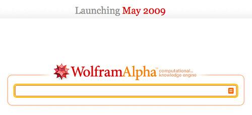 WolframAlpha, Launching May 2009
