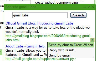 Google Search in Gmail