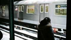 (GeorgeFrowny) Tags: nyc snow film train subway 50mm nikon nikkor sunsetpark fm2n 5014ais