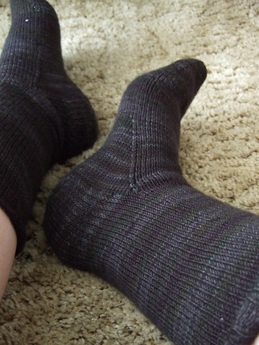Blackrose Socks - plain sections