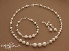 Blanche (Biala Magia) Tags: crystals jewelry pearls jewellery swarovski bridal magia biaa