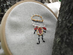 Big B embroidery (wildolive) Tags: child embroidery stitching bigb