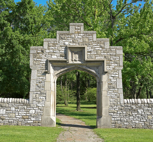 Tower Grove Park, in Saint Louis, Missouri, USA - northwest gate