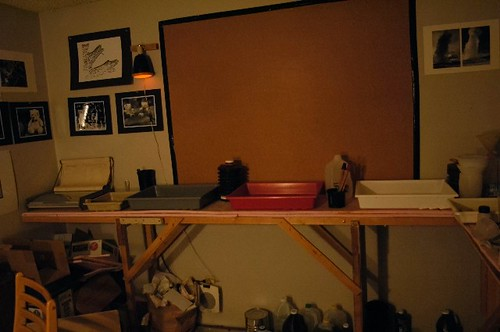 My Darkroom: the print processing area