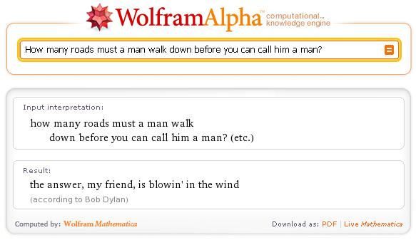 wolfram alpha easter egg1