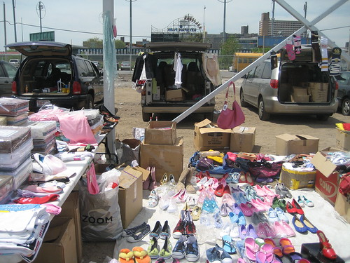 Shoes galore at Thor Equities flea market. Photo by me-myself-i/Tricia Vita via flickr