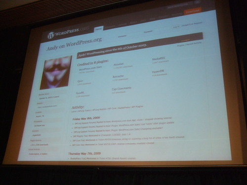 Wordpress.org profile pages