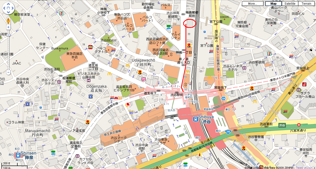 Tower Records Shibuya Map