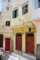 Moroccan Doors II (cwgoodroe) Tags: tangier tanger morocco moroccan africa ferry plane bus doorway arab muslim mosque merchant street arabic metaldoors colors summer streetlife vibrant poor kasbah casbah casbha ancient moors christians fishmerchant artistic ocean city sea sand sun panasonic pentax continent people script merchants children metal doors colorful conservative fish monger cafe friendly vegtable old cleric casba dailylifeportrait sadfaces