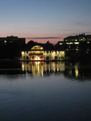Boathouse (historygradguy (jobhunting)) Tags: reflection water boston night river ma lights twilight massachusetts charlesriver newengland winner mass boathouse bostonist challengeyouwinner platinumheartaward