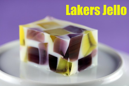 Food LIbrarian - Lakers Jello - Broken Glass Jello