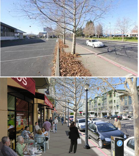 Before and after: how to turn a pavement into a paved paradise
