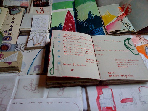 Sketchbooks, 2001-2008 by jennifer brook.