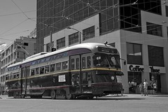 PCC at Spadina (Stephen Gardiner) Tags: toronto ontario heritage pentax ttc streetcar 2009 pcc queensquay torontotransitcommission spadinaavenue 1645 torontowaterfront k20d presidentsconferencecommittee 509streetcar