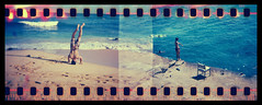 Hawaii Holga 35mm (Justin Ornellas) Tags: ocean blue justin sky art film water beautiful vintage hawaii holga lomo lomography surf wave holes retro  hawaiian sandys portlock sprocket  ornellas ornellaswouldgo