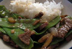 Garlic and Ginger Beef and Snow Peas