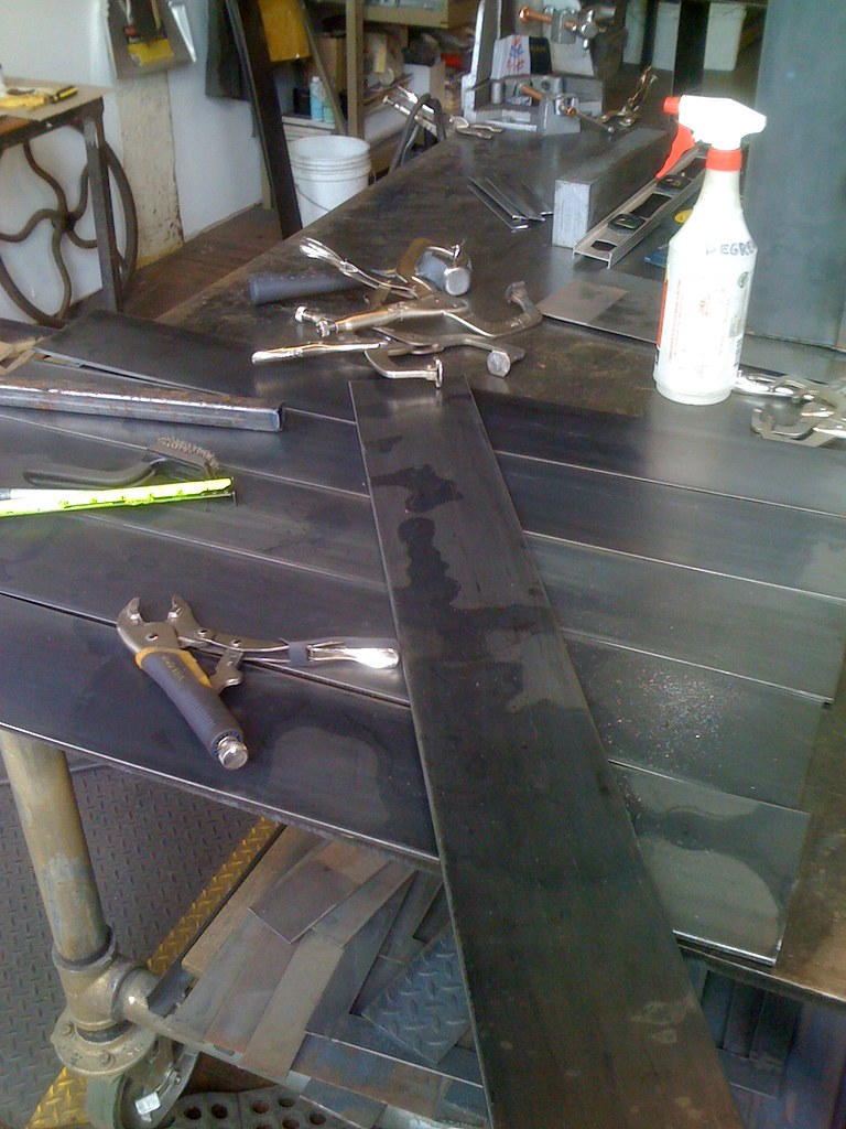Conver-Table Metal Desk