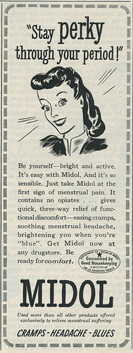 Midol advertisement from 1945