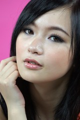 DSC03229 (rickytanghkg) Tags: pink portrait orange woman black girl female studio model chinese picnik