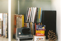 (emilyharriet) Tags: film pine kodak cone cds dvds solaris polaroidlandcamera zenite colourplus