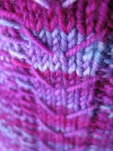 pink sock zig zags
