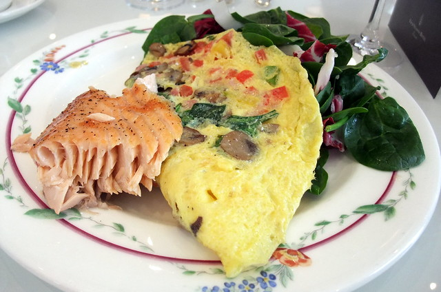 Omelet and Salmon