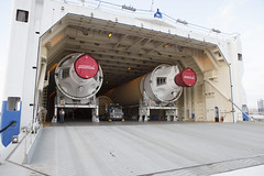 Delta IV H components arrive at KSC