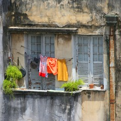 The Washing Line - Brazil (Heaven`s Gate (John)) Tags: old travel red brazil vacation orange house art history topf25 brasil architecture apartment flat market line unesco worldheritagesite shutters salvador discovery washing 50faves mvdiscovery johndalkin heavensgatejohn flickrlovers flickraward thewashinglinebrazil