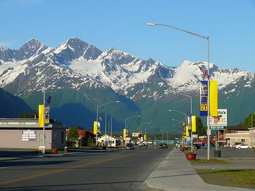 Downtown Valdez Alaska by bahamahawk.