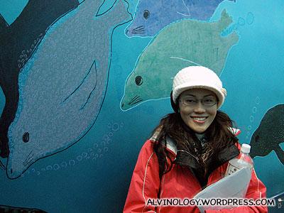At the seals and sea lions enclosure