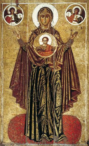 010- Virgen de Panagia-Oranta- siglo XIII- autor desconocido