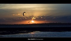 Practice ([ Kane ]) Tags: sunset sky sun water birds clouds australia brisbane explore qld bayside rays kane 75300mm wellingtonpoint gledhill kanegledhill vosplusbellesphotos humanhabits kanegledhillphotography