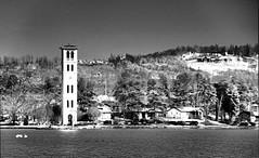 Belltower in Snow B&W