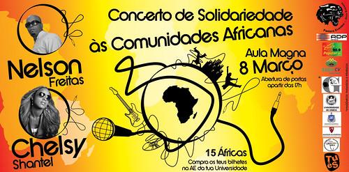 Flyer - Concerto de Solidariedade às Comunidades Africanas