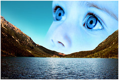 Child of Nature (Ben Heine) Tags: ocean sky baby mountain lake green art ecology look childhood photomanipulation river dawn climb boat eyes surrealism ant hill flight dream free wave poland yeux kind ciel enjoy future hopes sail pure enfant generation libre bb offspring colline futur ashore waterscape rivage wishful avenir rve ecologie naviguer petersquinn childofnature altermondialisme progniture benheine espoirs
