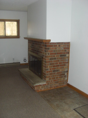 side view of fireplace by you.