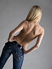2009_0208_Amanda_195-Edit (geeman39) Tags: tattoo model olympus greeneyes blonde bluejeans glamor e510 impliednude