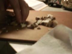 Chopping mushrooms (gorickjones) Tags: flickr spawn lucyfotos