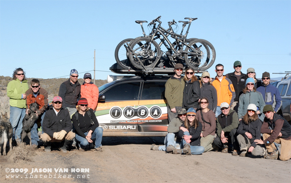 After a design class in the field; a group shot with the Kokopelli Bike Club