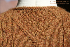 Caramel close-up back neck