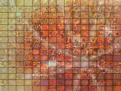 Orange - Fractal Mosaic (qthomasbower) Tags: wallpaper music abstract color art colors collage digital computer visions design still pattern mosaic modernart background patterns mashup screenshots software dreams backgrounds designs fractal fractals doodles wallpapers slideshow gforce trippy psychedelic visualization discoball lightshow groceries stills trance frys screeenshot hallucinations visualizations electricsheep psychedelicart visualmashup musicvisualization sreensaver marqlaube qthomasbower frysfoodstore marqtlaube