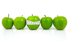 Green apples measured  the meter, sports apples (Denis Vrublevski) Tags: food white green apple loss sport fruit idea healthy slim control bright juice group lifestyle tape health numbers instrument meter diet shape measure weight isolated ripe dieting measurement ingredient exercising vitaminsuseful