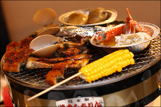unagi-crab-clam-bbq