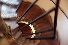 Motion (armenperian) Tags: italy motion rome spiral tivoli movement staircase 2007 villadeste intentionalcameramovement