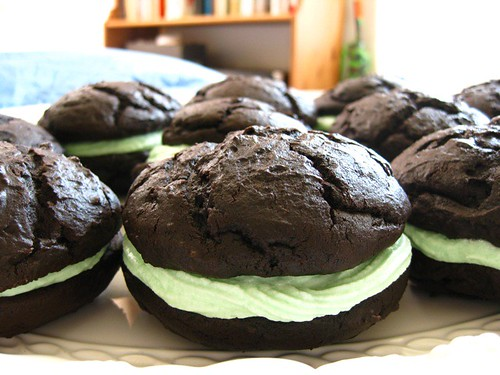 Whoopie Pies with Mint Frosting