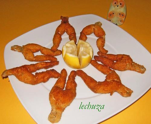 Ancas de rana-fritas rebozadas