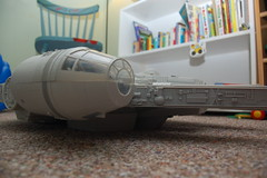 Isaac's birthday present: giant Millennium Falcon (Chris Devers) Tags: birthday ma toy starwars massachusetts awesome isaac gift somerville present spaceship somervillema 2008 2009 chewbacca hansolo empirestrikesback anewhope millenniumfalcon milenniumfalcon cameranikond50 starwarsanewhope exif:exposure_bias=0ev exif:exposure=0017sec160 exif:focal_length=18mm starwarsreturnofthejedi starwarstheempirestrikesback exif:aperture=f40 camera:make=nikoncorporation exif:flash=autofiredreturndetected camera:model=nikond50 meta:exif=1257922354 exif:orientation=horizontalnormal exif:lens=18200mmf3556 exif:filename=dscjpg exif:vari_program=auto exif:shutter_count=29722 meta:exif=1350402548