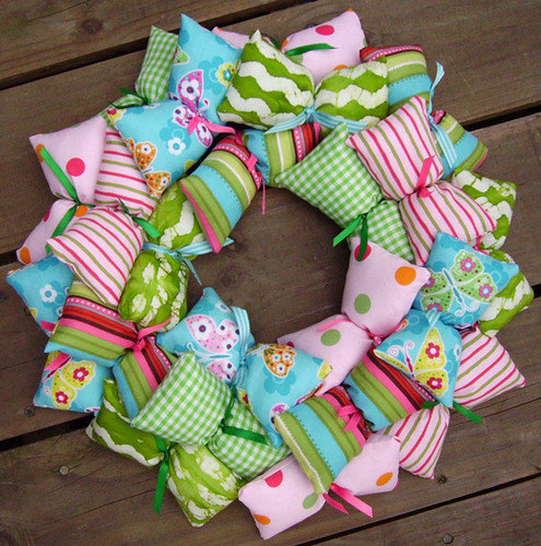 Girl's Fabric Wreath