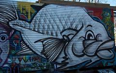 Streetart fra skateboardparken i Gamlebyen