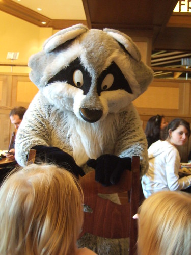 Meeko plays with the girls at Storytellers